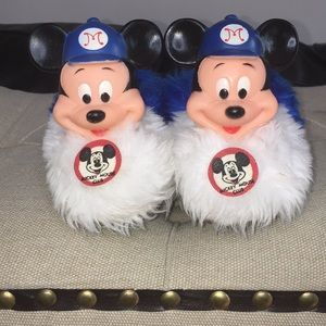 Vintage RARE 1960's Mickey Mouse Club Slippers
